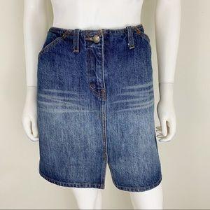J.Crew Size 8 Blue Jean Skirt EUC